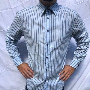 Professional men's blue dress shirt